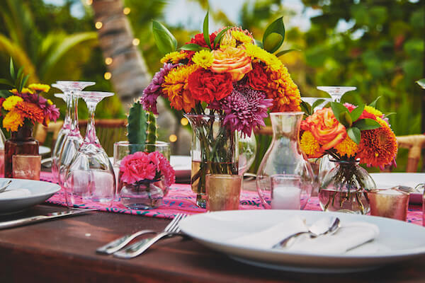 Centerpieces/Flower - Facebook - Destination Weddings Tulum
